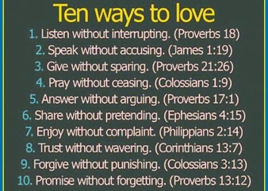 ten way to love