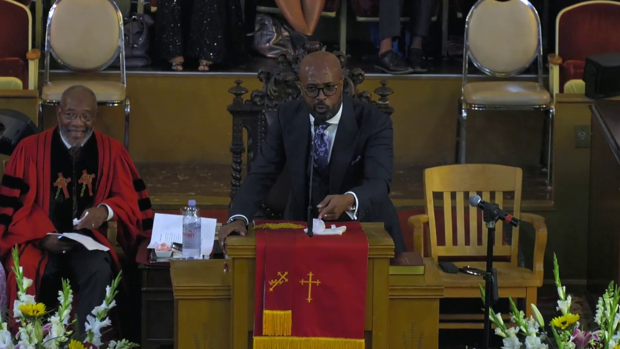 Dr.Frederick D. Haynes, III. speaking at San Francisco's first Black Female Mayor's prayer service