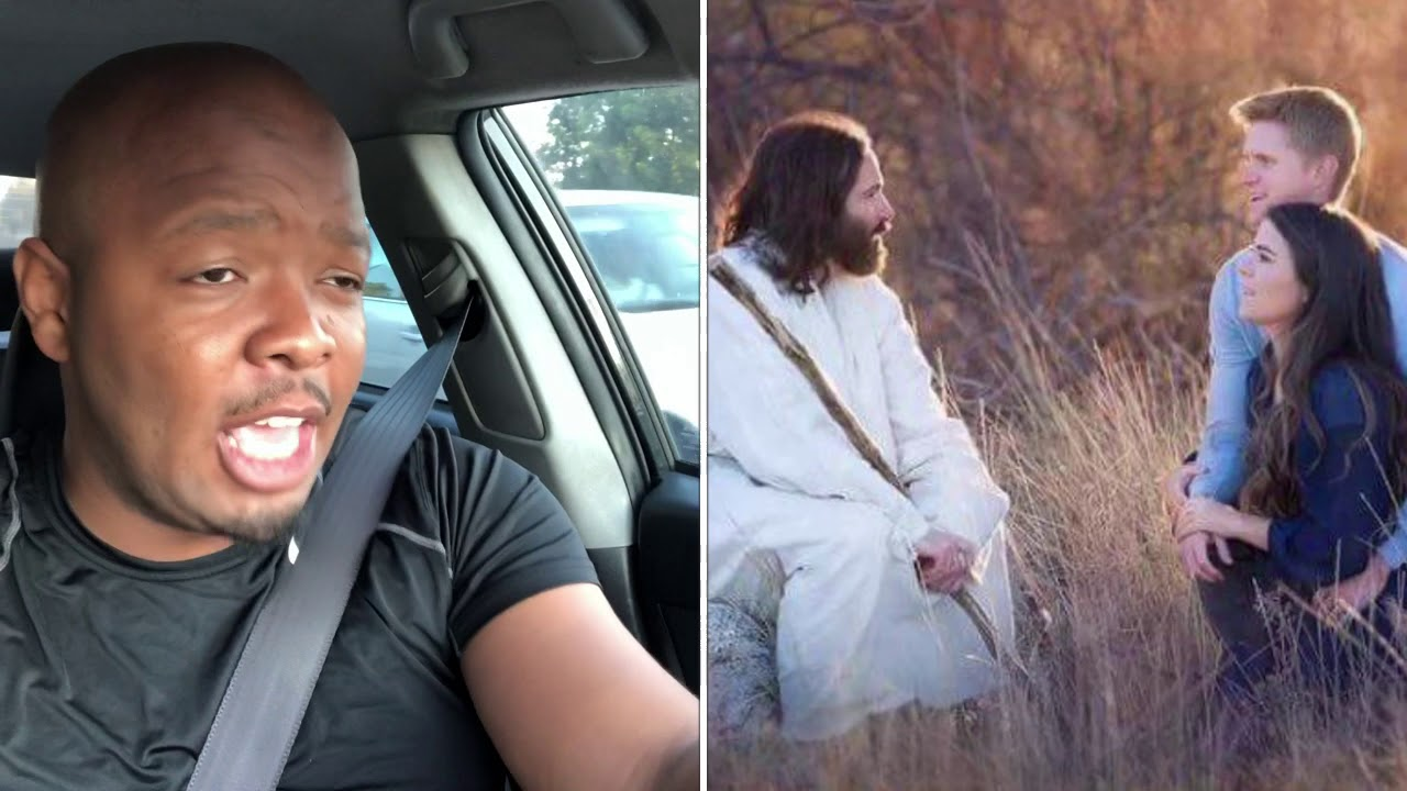 Jesus in the engagement photos