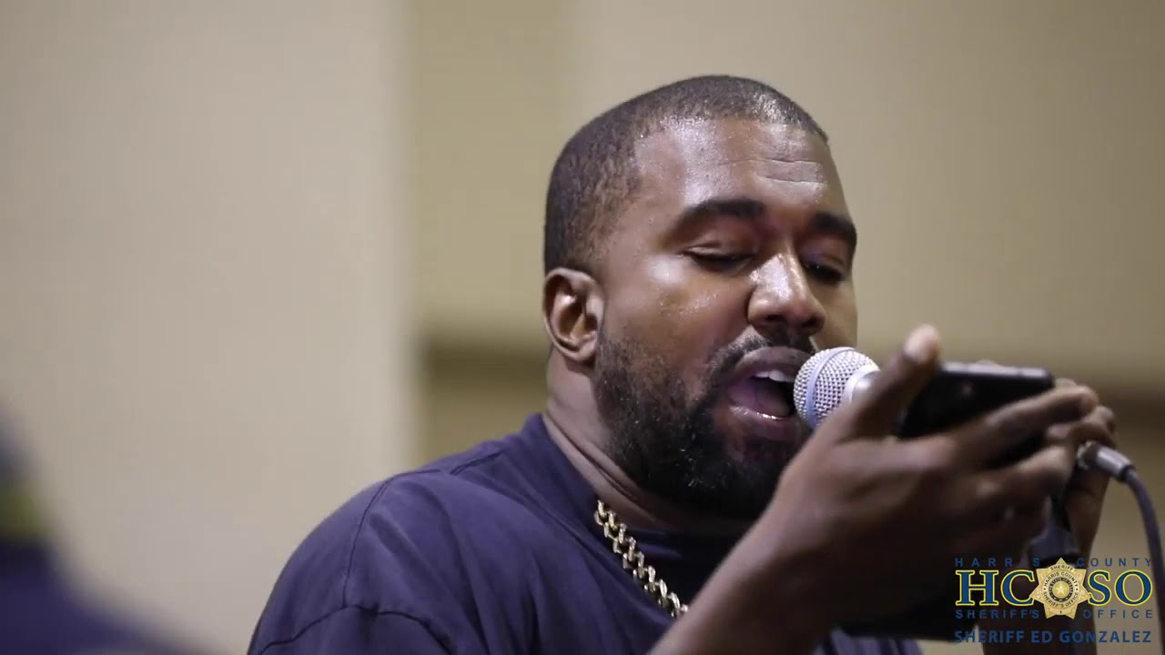 Kanye West performs at Harris County jail