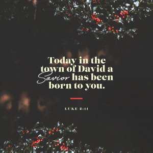 Luke 2:10 – 11