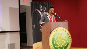 Dr. Bernice King at the King Day Events Schedule Press Conference