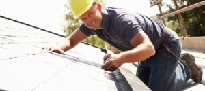 man doing a roofing job