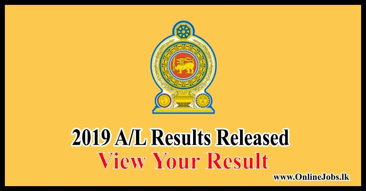 2019 G.C.E A/L examination Results Released