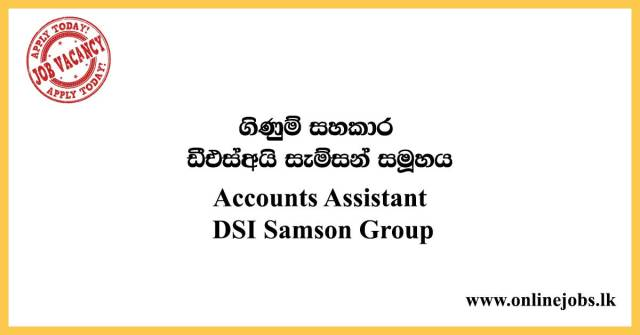 Accounts Assistant - DSI Samson Group