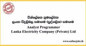 Analyst Programmer - Lanka Electricity Company (Private) Ltd