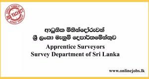 Apprentice Surveyors - Survey Department of Sri Lanka