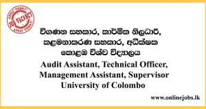 Audit Assistant, Officer & More - University of Colombo Vacancies 2020