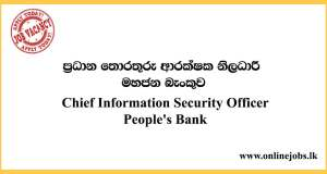 Chief Information Security Officer - People's Bank