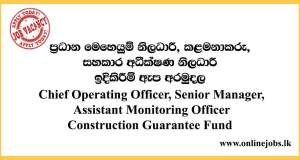 Assistant Monitoring Officer - Construction Guarantee Fund Vacancies 2020