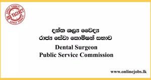 Dental Surgeon - Public Service Commission Jobs
