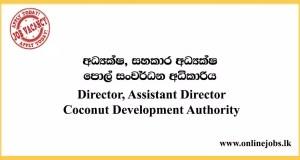 Director, Assistant Director - Coconut Development Authority Vacancies 2020