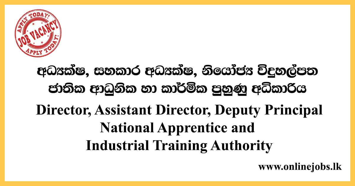 Director- National Apprentice and Industrial Training Authority Vacancies 2020