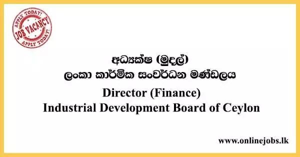 Director (Finance) - Industrial Development Board of Ceylon Vacancies 2021