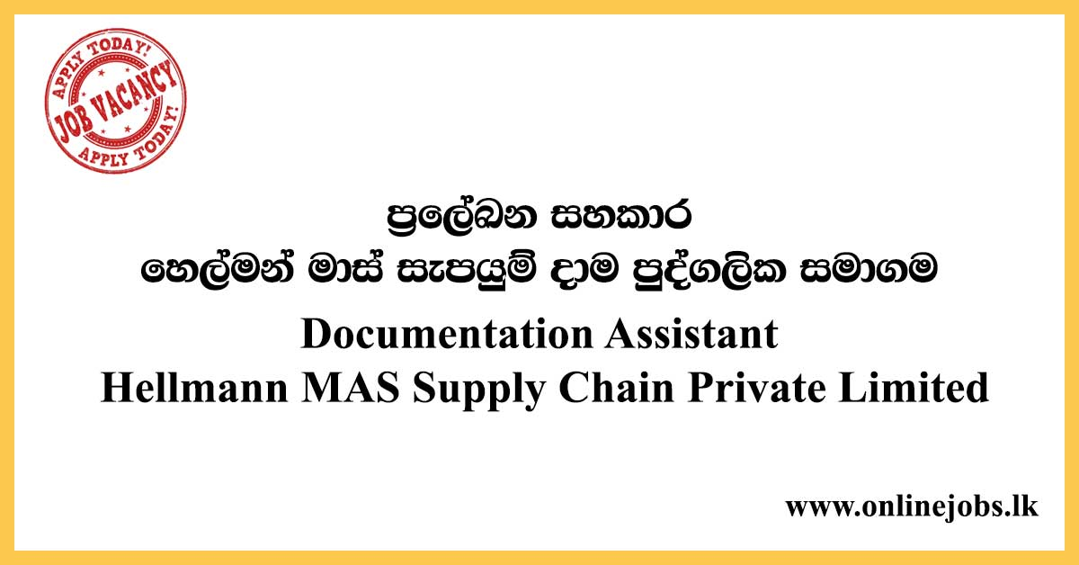 Documentation Assistant Hellmann MAS Supply Chain Private Limited
