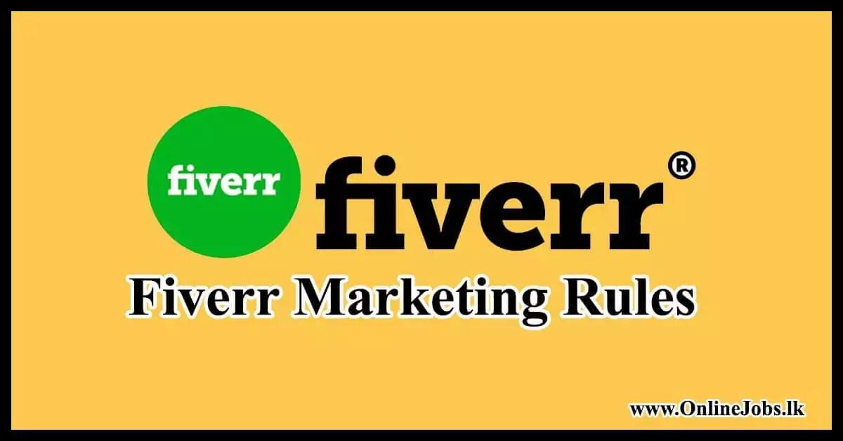 Fiverr Marketing Rules