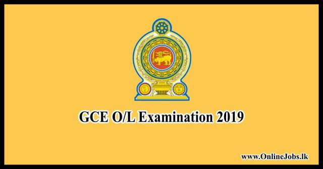 GCE O/L 2019 Exam (Department of Examination)