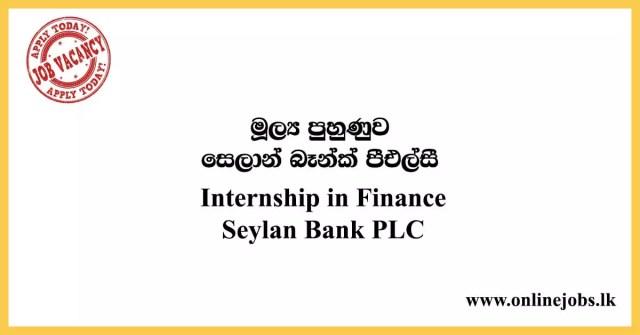 Internship in Finance Seylan Bank PLC