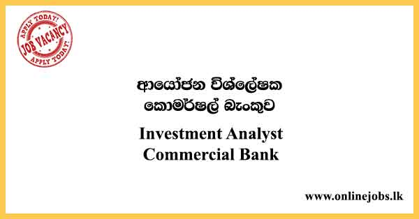 Investment Analyst Commercial Bank