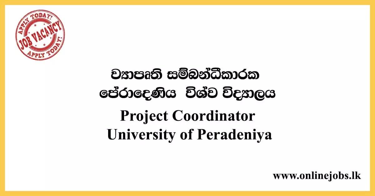 Project Coordinator - University of Peradeniya