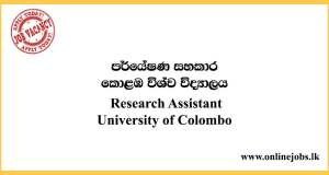 Research Assistant - University of Colombo Vacancies 2020
