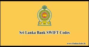 Sri Lanka Bank SWIFT Codes