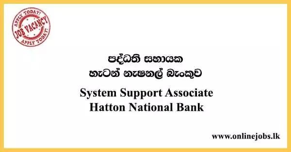 System Support Associate