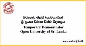 Temporary Demonstrator - Open University Vacancies 2020