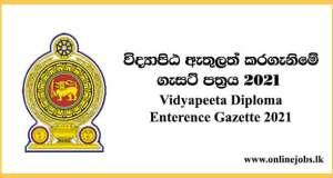 Vidyapeeta Diploma Enterence Gazette 2021