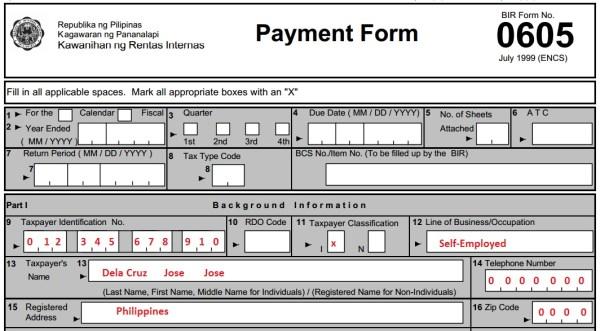 form 0605 - 01