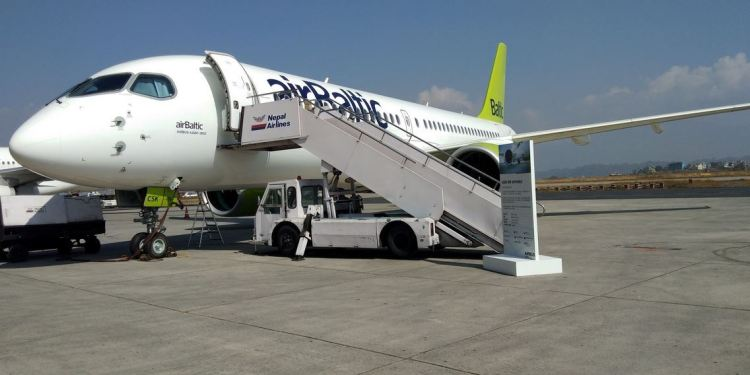 Airbus A220 Makes Maiden Landing In Nepal