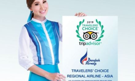 "BANGKOK AIRWAYS WINS ""TRAVELERS' CHOICE AWARDS – REGIONAL AIRLINE ASIA 2019"" FROM TRIPADVISOR"