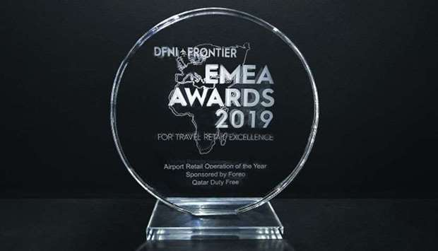 QATAR DUTY FREE NAMED 'AIRPORT RETAIL OPERATION OF THE YEAR' AT DFNI-FRONTIER EMEA AWARDS AND CHARITY BALL 2019
