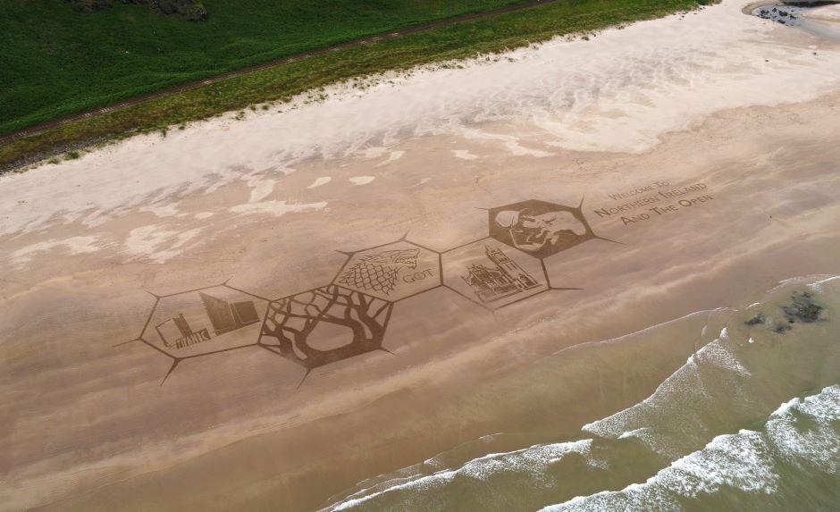Showcasing Northern Ireland in sand!