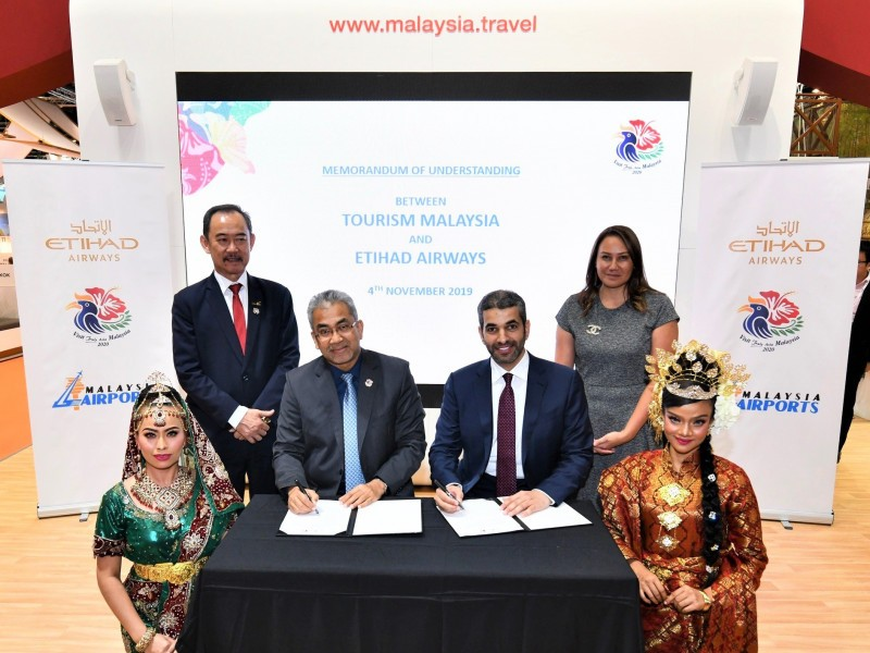 Etihad Airways and tourism Malaysia partner to promote travel to Malaysia