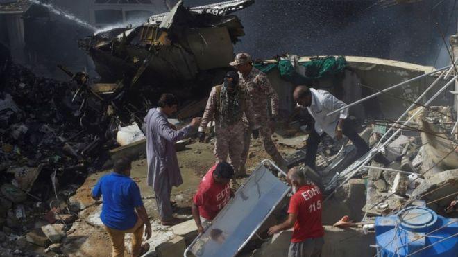 Pakistan International Airlines passenger plane crashes in Karachi