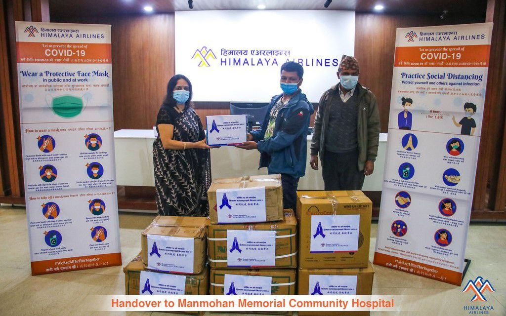 Himalaya Airlines continues support to fight against COVID-19