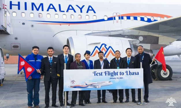 Himalaya Airlines takes-off to Lhasa for test flight