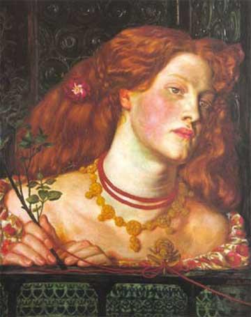 Abbildung: Dante Gabriel Rosetti, Fair Rosamund (1861)
