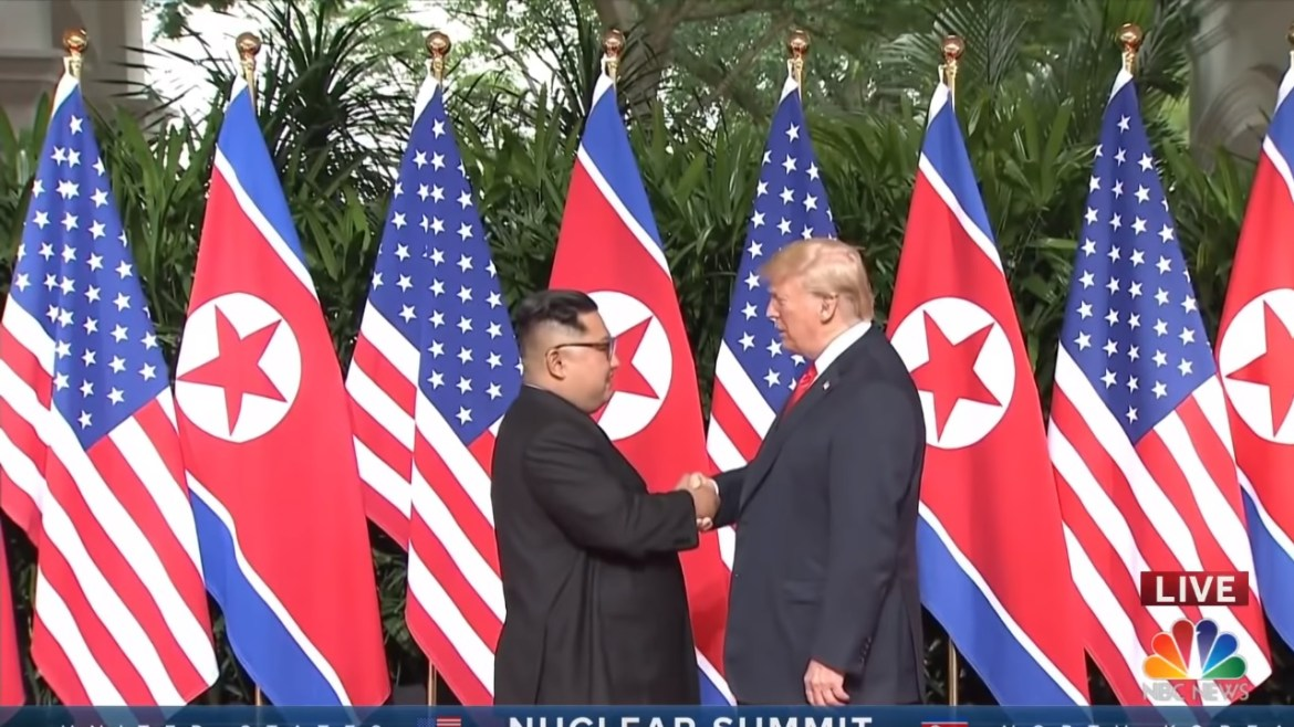 The historical moment meeting between President Donald Trump and North Korean leader Kim Jong Un has finally happened.