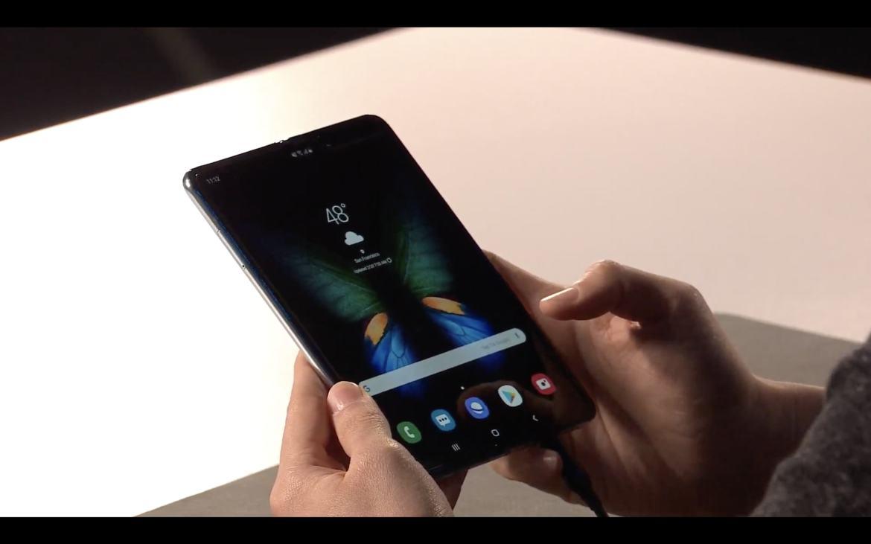 The bigger screen on the Samsung Galaxy Fold
