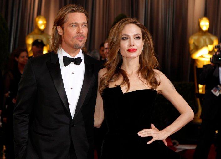 Angelina Jolie and Brad Pitt Academy Awards on Feb. 26, 2012.
