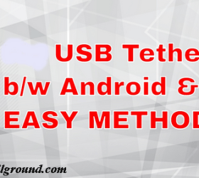 learn how to use the USB tethering & mobile hotspot to access your pc internet