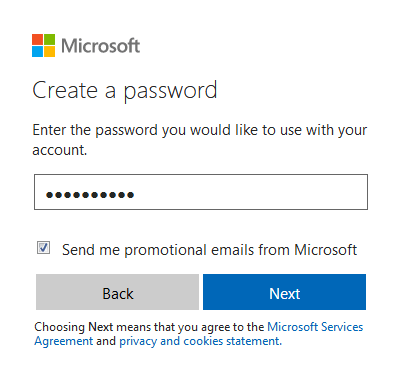 Choose a strong password to secure your account