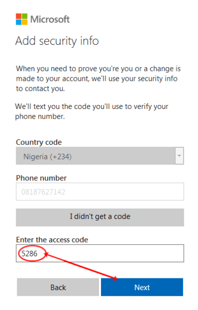 Having this four-digit code is necessary for confirmation