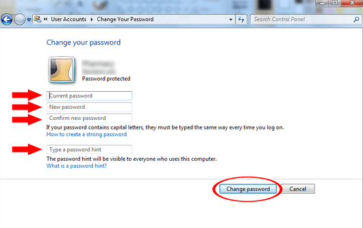 How to Create a New Password on Your Windows