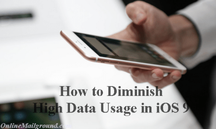 How to Diminish High Data Usage in iOS 9