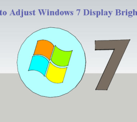How to Adjust Windows 7 Display Brightness.