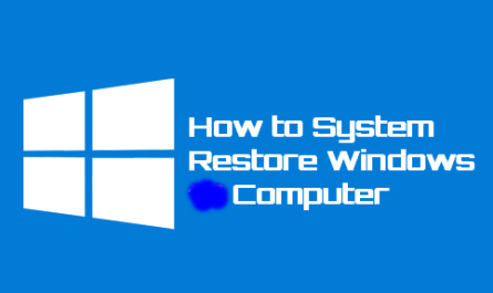 How to Restore Windows Computer System.