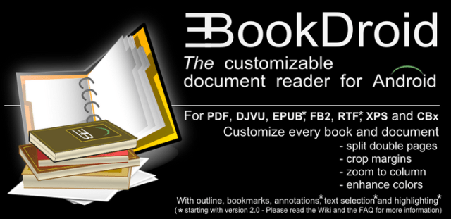 About EBookDroid Reader.
